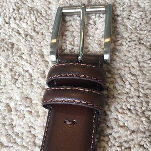Brown Italian Leather Belt